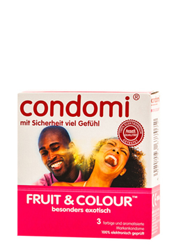 Preservativos Condomi Fruit & Color 3 uds.