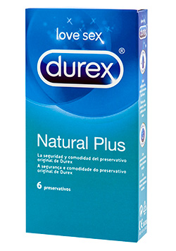 Preservativos Durex Natural Plus 6 uds.