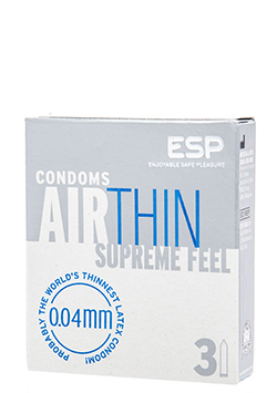Preservativos sensitivos ESP Air Thin 3 Uds