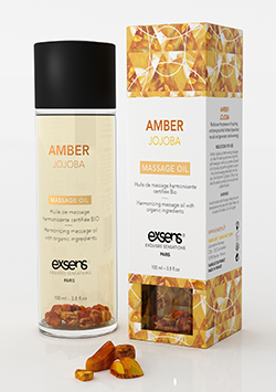 Massage Oil With Organic Ingredients And Stones Amber Jojoba 100 ml.