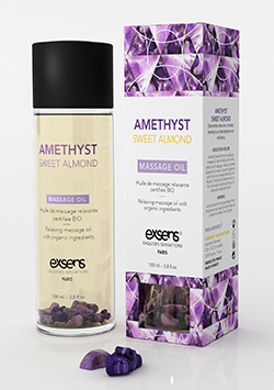 Relaxing Massage Oil Amathist Whith Organic ingredients Sweet Almond 100 ml.
