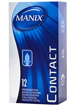 Preservativos sensitivos Manix Contact 12 Uds.