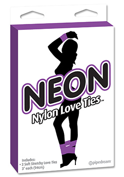 Neon Love Ties Lila