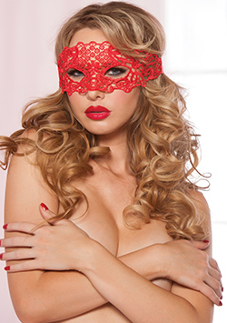 Gallon Lace Eye Mask Red Talla Unica