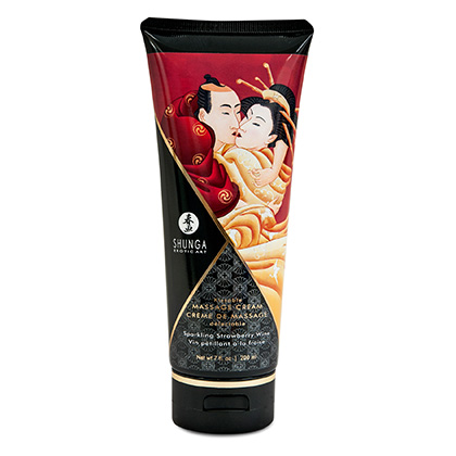 Shunga Massage Cream - Sparkling Strawberry Wine