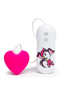 7 Function Silicone Pink Heart Clitoral Vibrator