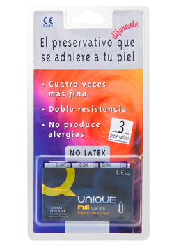 Preservativos sensitivos Unique Sin látex 3 uds.